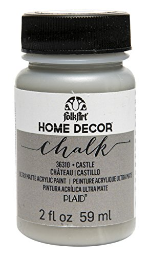 FolkArt Home Decor Chalk Furniture & Craft Paint in Assorted Colors (2 Ounce), 36310 Castle (Home Decor Chalk Paint compare prices)