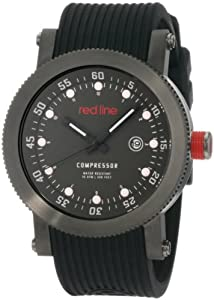 red line Men's RL-18001-014W-GUN Compressor Collection Watch