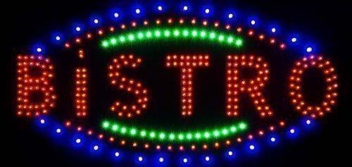 LED Placa Letrero LED XXL Letrero Luminoso Publicidad Gráfica Señal Bistro
