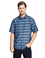Modal Blend Two Tone Checked Shirt