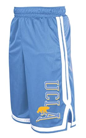 NCAA UCLA Bruins Men's Long Mesh Pocket Short, Collegiate Blue/White, Large