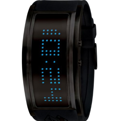 Black Dice Men's Guru Front Multicolored LED Watch BD 060 02 With 7 Individual Coloured Options