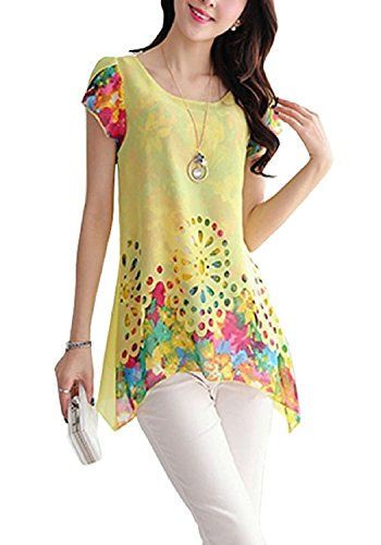 Womens-Fancy-printed-top-color-yellowsize-L