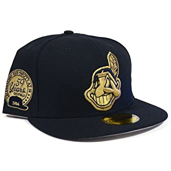 Cleveland Indians New Era 59th Anniversary Navy and Gold Fitted Hat by New Era