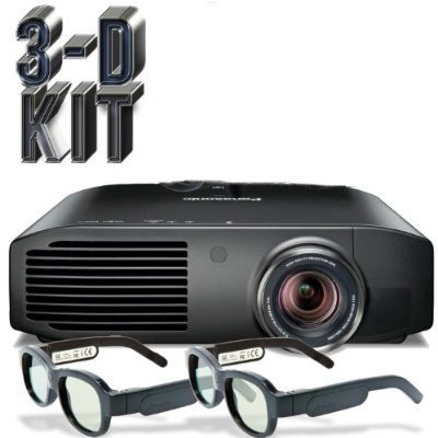 Panasonic PT AE8000U Full HD 3D Home Theater Projector + 2 Pairs of Xpand 3D Glasses available at Amazon for Rs.294799