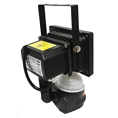 MiNiWatts® IP66 Waterproof 10W Blanc Froid Capteur de Mouvement PIR Projecteur LED Avec la Nouvelle Fonction Over-Tour