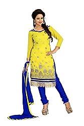 Vardhman MAHEK 60GRAM Yellow Georgette unstitched Straight Salwar Suit Dress Material