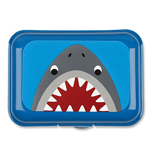 Stephen Joseph Shark Snack Box, Blue - 1