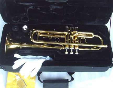 best buy anaxa brass concert band trumpet w case approved warranty on sale trumpets. Black Bedroom Furniture Sets. Home Design Ideas