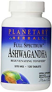 buy Planetary Herbals Full Spectrum Ashwagandha 570 Mg Tablets' 120 Tablets