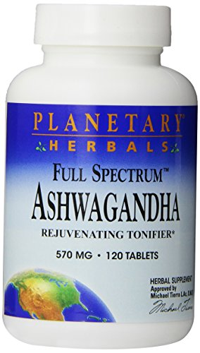 Planetary Herbals Full Spectrum Ashwagandha 570 Mg Tablets' 120 Tablets