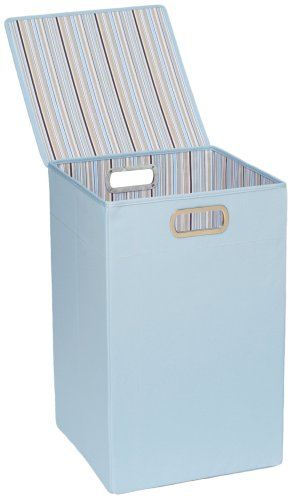 JJ Cole Hamper, Blue Stripe (Discontinued by Manufacturer)