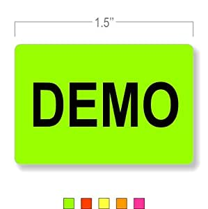 Inventory sticker demo message office products for Amazon gelbsticker