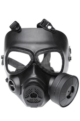 New Airsoft Paintball Full Face Protection M04 Dummy Gas Mask Fan System Sweat Prevent Mist Prop Cosplay Black L694
