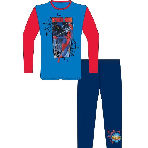 Childrens/Kids Spiderman Printed Long Sleeve Top & Bottoms/Trouser Pyjamas Set