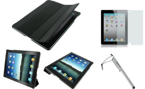 rooCASE 3n1 Ultra Slim (Black) Leather Smart
