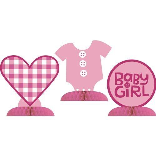 Cute as a Button Girl Mini Centerpiece Set (3 ct) - 1