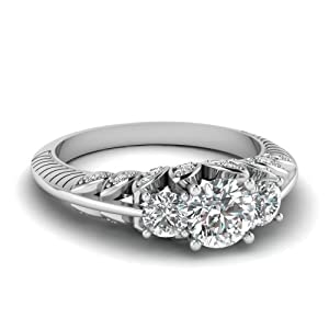 1.35 Ct Round Cut:Ideal Diamond Aristocratic Engagement Ring VS2-G Gold GIA Certificate # 2156746839