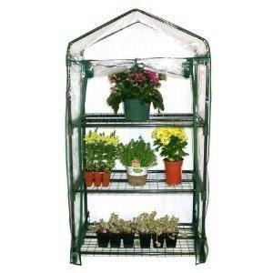 3 Tier Mini Garden Greenhouse Outdoor Metal Frame PVC Cover