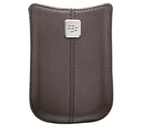 Housse en cuir marron sombre  Pour Blackberry 8520, 8900