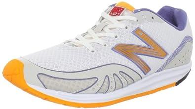New Balance WR10GY Running Minimus Barefoot Running Shoe Womens,White/Orange,5 B US