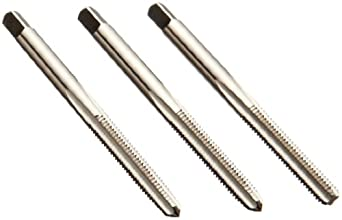Union Butterfield 1528S(UNC)/1528S(UNF)/1528S(UNS) High-Speed Steel Hand Tap Set, Uncoated (Bright) Finish, Round Shank with Square End, 3-Piece (1 Taper, 1 Plug, 1 Bottoming Chamfer)