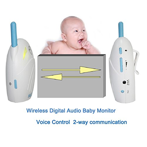 XINYADA Wireless Digital Audio Baby Monitor Set Rechargeable Battery With 2 way communication