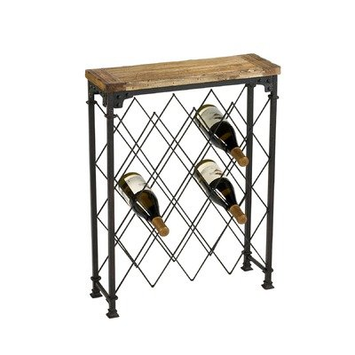 Hudson Wine Rack in Rustic