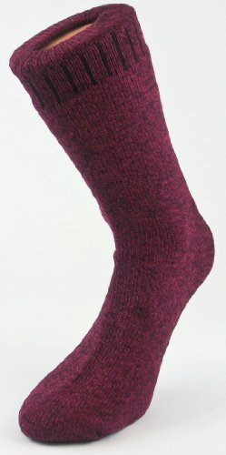 Ladies Wellington Wool Blend Ribbed Shin High Boot Red Socks UK Size 47