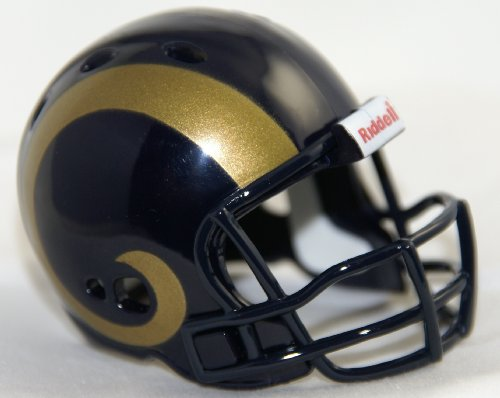 ST. LOUIS RAMS NFL Riddell Revolution POCKET PRO Mini Football Helmet