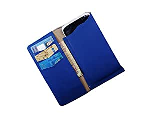 ATV PU Leather STEEL BLUE Pouch Case Flip Cover For Lenovo S930