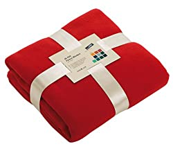 SUPERSOFT WARM FLEECE BLANKET THROW 130 X 170 cm - 11 GREAT COLOURS