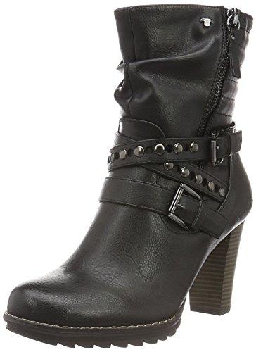 TOM TAILOR1690406 - Stivali a metà polpaccio non imbottiti Donna , Nero (Nero (nero)), 38