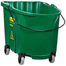"Rubbermaid Commercial FG757088 WaveBrake Bucket, 35 qt Capacity, 20.1"" Length x 16"" Width x 17.4"" Height, Green"