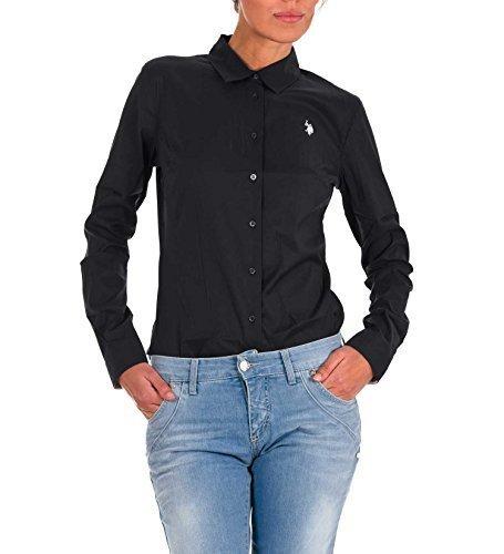US Polo ASSN USA Polo BODY a maniche lunghe T-shirt maglia a maniche lunghe Logo USPA long Shirt Amelie nero S