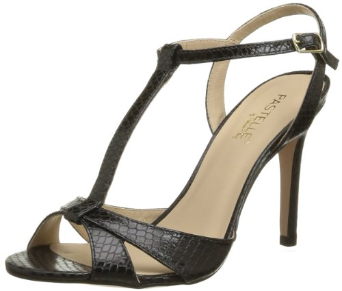 Pastelle Women's Saraya Fashion Sandals Black Noir (Python Noir) 5 (38 EU)