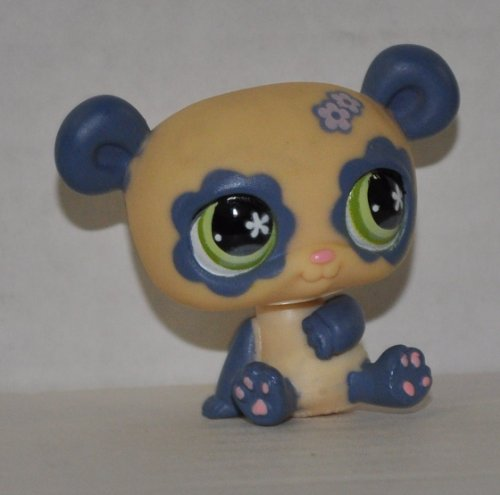 Panda #658 (White / Pale Purple) - Littlest Pet Shop (Retired) Collector Toy - LPS Collectible Replacement Figure - Loose (OOP Out of Package & Print) - 1