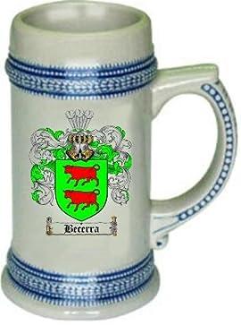 Becerra Family Crest Stein / Coat of Arms beer mug
