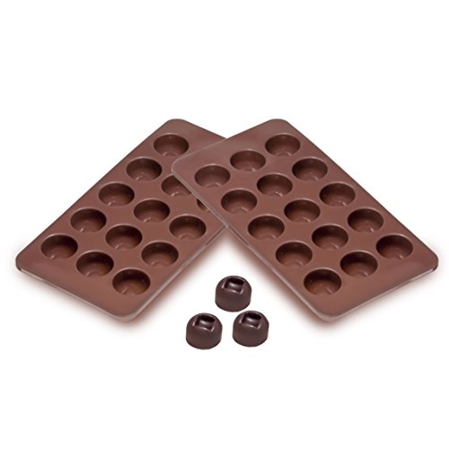 Sorbus® Square Indented Silicone Mold For Chocolate, Jelly And Candy - 15-Piece Per Mold (Set Of 2)