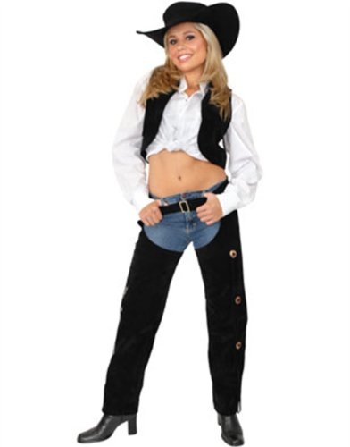 Suede Chaps And Vest Adult Costume (Large (11-13))