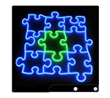 Sony PS3 Slim Skin Decal Sticker - Neon Puzzle
