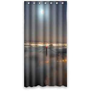 custom 36 x 72 inches golden gate bridge shower curtain waterproof polyester fabric home. Black Bedroom Furniture Sets. Home Design Ideas
