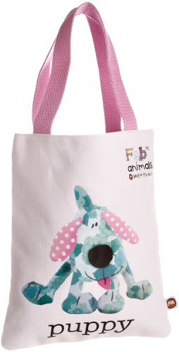 Fabric Animals Women's Puppy Book Bag With Bookmark