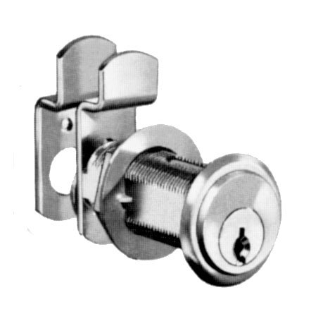 One Piece (810226D915) Cam Lock . Compx National Pin Tumbler Cam Lock Dull Chrome front-623671
