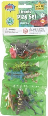 Eco Expedition Lizard Playset: Dozen Plastic Mini Reptile Toy Figures - 1