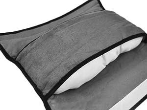 Coches del cinturón de seguridad de hombro Pad reposacabezas almohada para dormir para niños Gris por Vococal