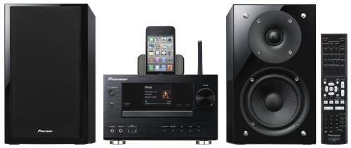Pioneer X-HM81-K Micro-Hifi-System (Lautsprecher in Glossy-Black, WiFi, Apple AirPlay, vTuner Internetradio, DLNA 1.5, Control App.) schwarz