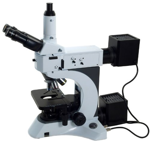 Omax 50X-1500X Advanced Infinity Trinocular Metallurgical Microscope With 100X Dry Objective And Kohler Transmitted And Epi Reflected Illumination