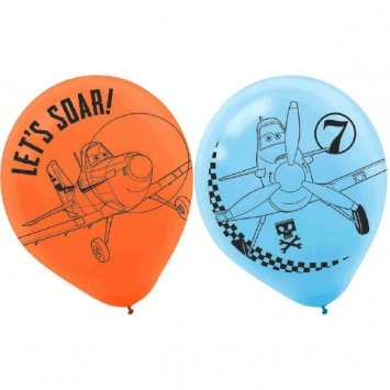 Planes 2 Printed Latex Balloons 6 Ct.