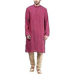 Indus Route by Pantaloons Men's Kurta 205000005577346_Purple_S